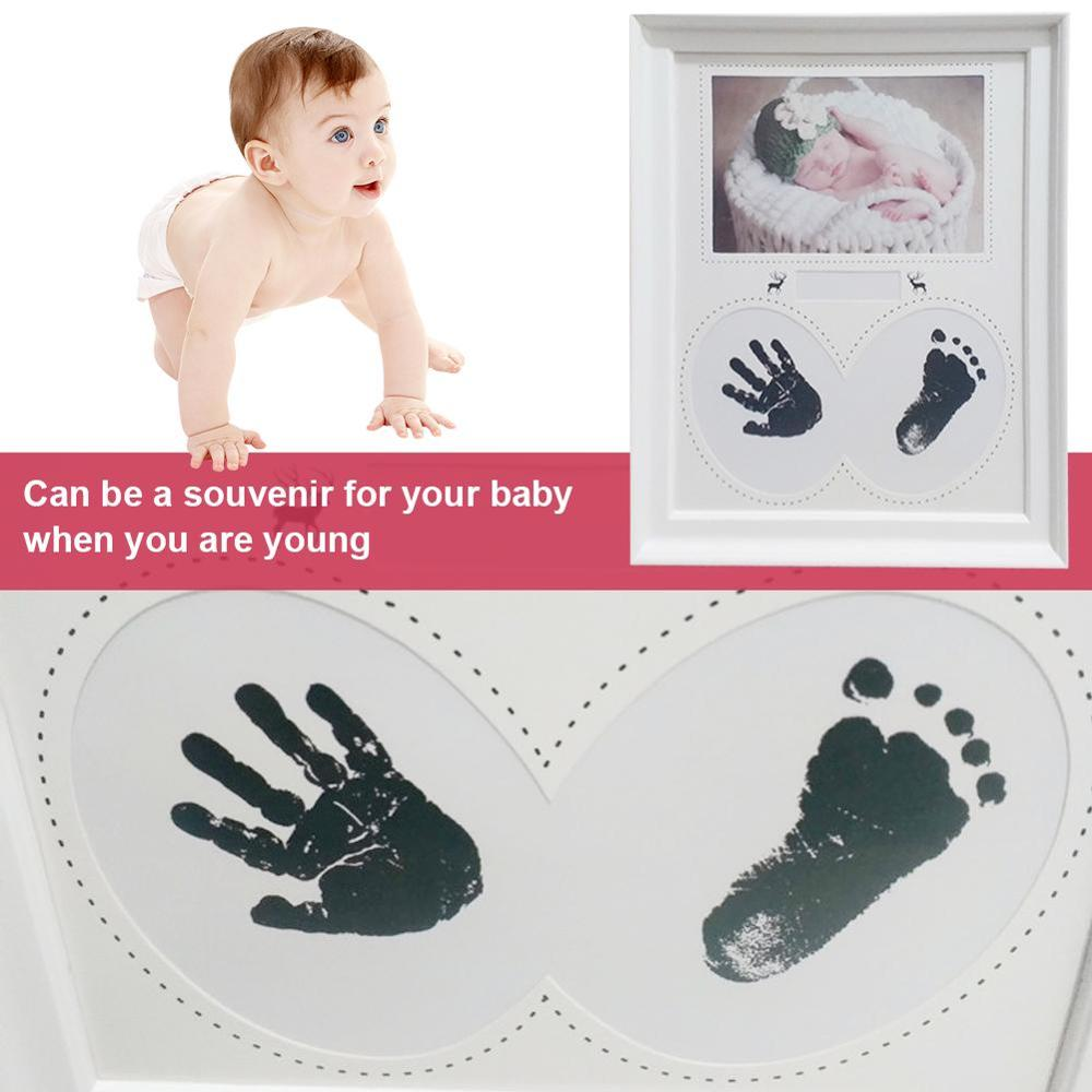 Baby Print Non-Toxic Baby Handprint Footprint Imprint Baby Items Souvenirs Casting Newborn Footprint Ink Pad Infant Clay Gifts