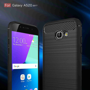 c2fd1a15614 Fibra de carbono funda de silicona para Samsung A5 2017 hoesje funda coque  armadura tpu para Samsung A5 2017 etui tok kryt kilif