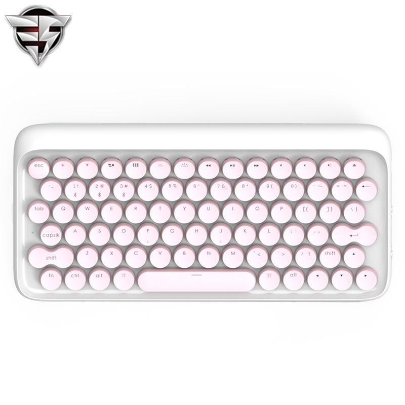 Lofree Dot Bluetooth Mechanical Keyboard Pink Wireless Backlit Round button for ipad Iphone Macbook PC computer