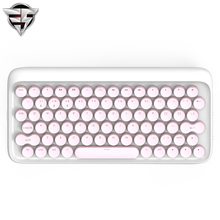 Lofree Dot Bluetooth Mechanical Keyboard Pink Wireless Backlit Round button for ipad/Iphone/Macbook/PC computer/Android Tablet