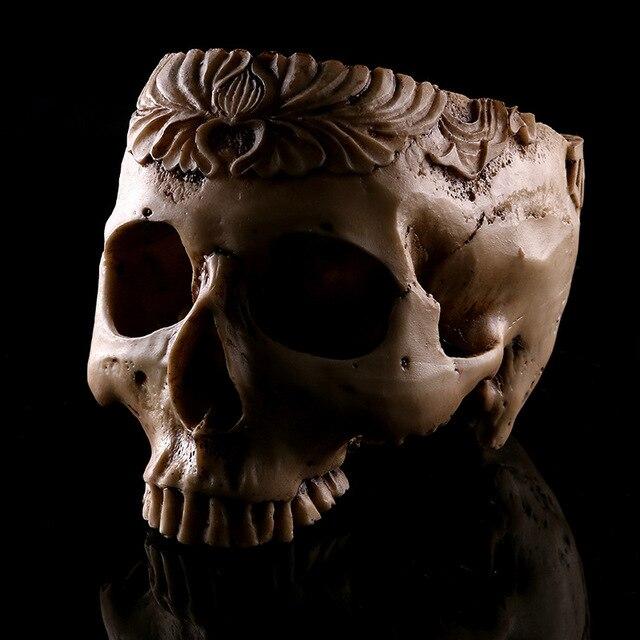 Medical Study Scary Skeleton Skull Specimen Resin Crafts Halloween Gift Home  Decorations Flowerpot Furnishings Model