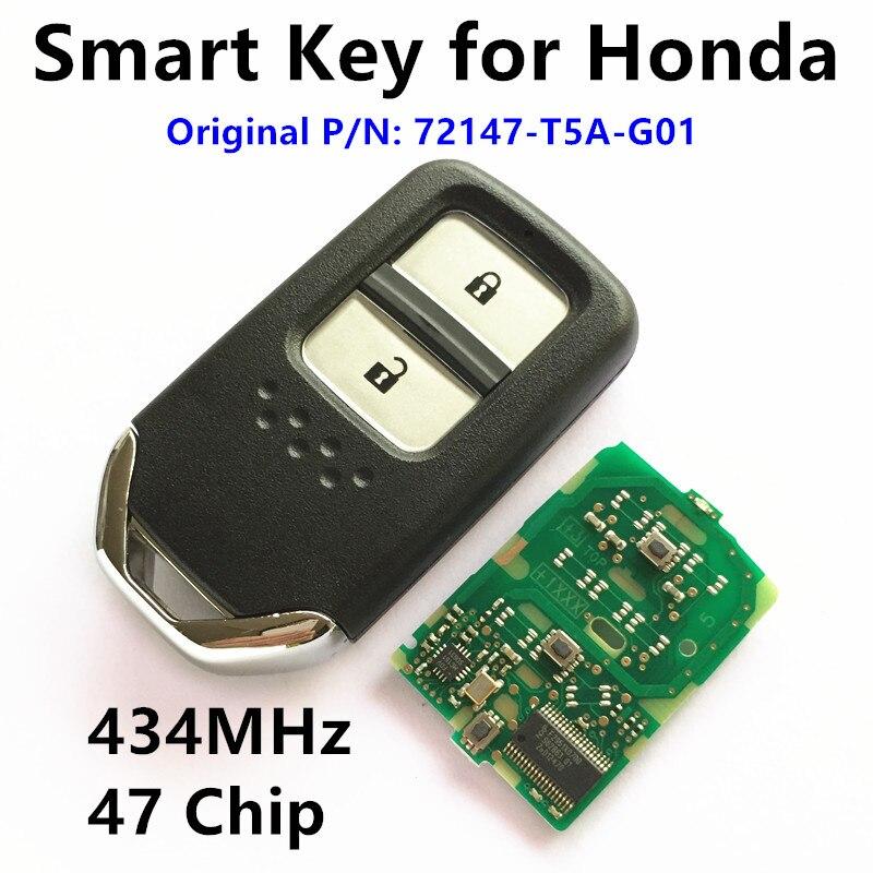 Prix pour Smart key pour honda ville fit jazz vezel xrv crv hrv voiture à distance clé 72147-t5a-g01