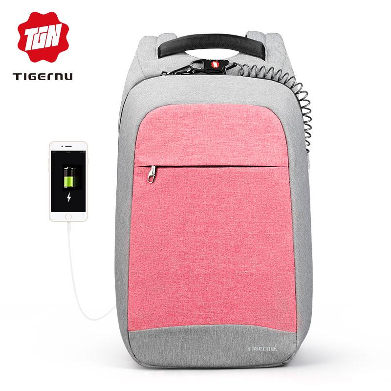 Tigernu Модный женский рюкзак повседневный рюкзак колледж школьная сумка для подростка девочки 15,6 дюймов Анти кража рюкзак для ноутбука