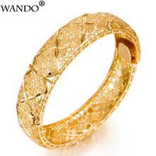 WANDO Luxury 24k Gold Color Ethiopian Jewelry Bangles For Wo
