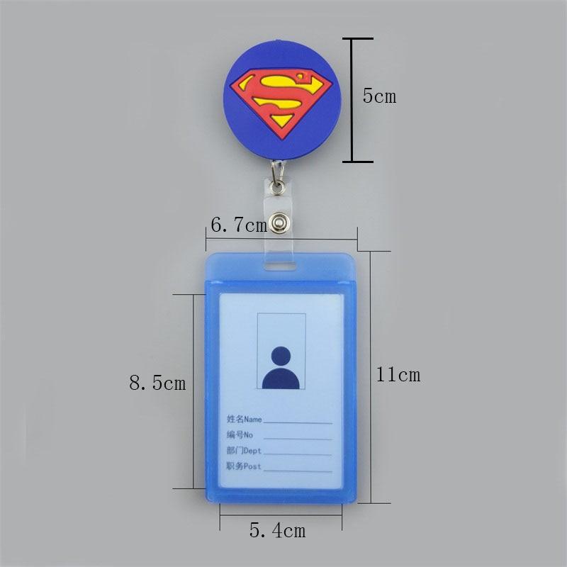 Купить с кэшбэком BINXUE Employee's card Cover card l durable ID Holders badge and lanyard hang tag Telescopic Badge Cartoon