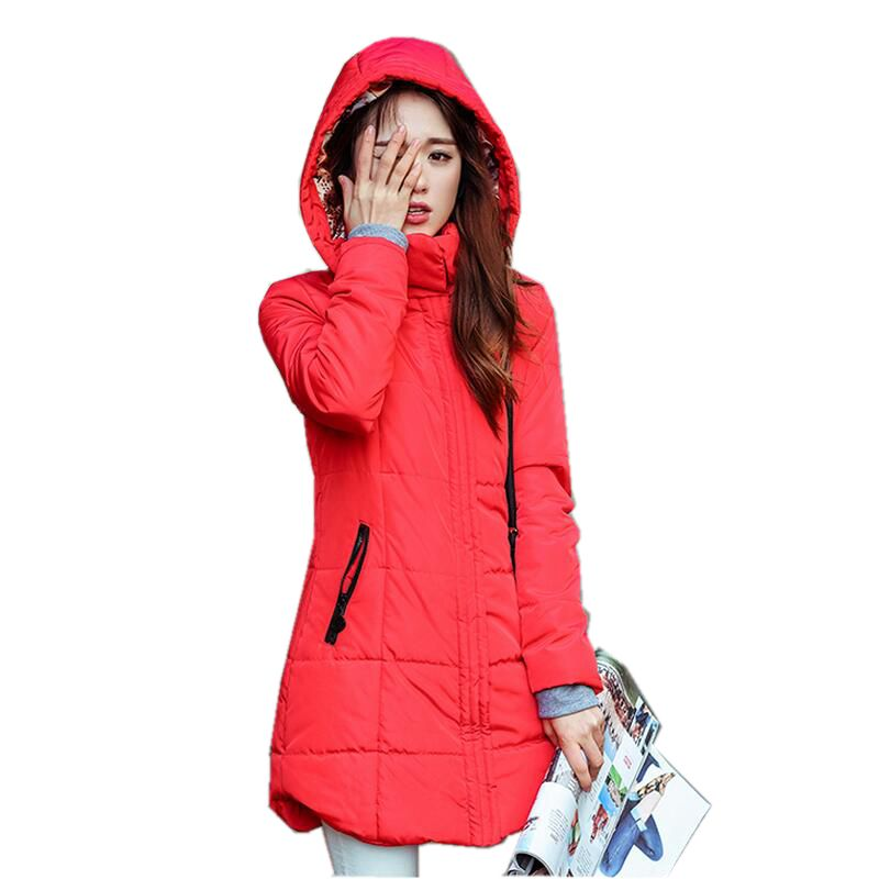 2017 New Winter Fashion Women Parkas Hooded Thick Super warm Medium long Coat Casual Slim Big yards Cotton-padded jacket NZ308 women winter parkas 2017 new fashion hooded thick warm patchwork color short jacket long sleeve slim big yards coat ladies210