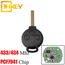 Bhkey 3 кнопки Автомобильный Дистанционный ключ без ключа для