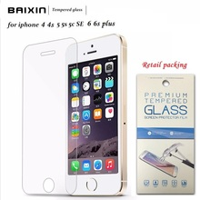 Original 0 3mm 9H Transparent Toughened Tempered Glass Screen Protector For Iphone 4 4s 5 5s