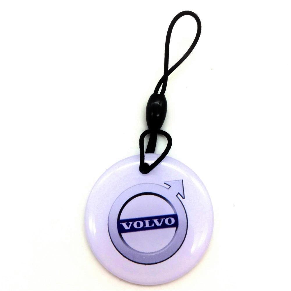 1pcs EM4305 125KHZ Copy Rewritable Writable Rewrite Keyfobs RFID Tag Key Ring Card Proximity Token Access Control White