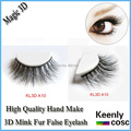 Fastest Shipping! wholesale professional handmade MINK false eyelash,thick 3D mink fur eyelash makeup