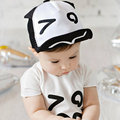 Adjustable Baseball Cap Baby Boy  White Black  Letter  Cartoon style  Baby  With Bonnet  Cotton Cap Kids Hats  Casquette
