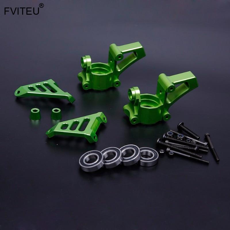 FVITEU CNC Alloy front Wheel hub carrier Set for 1 5 HPI Baja 5b ss 5t