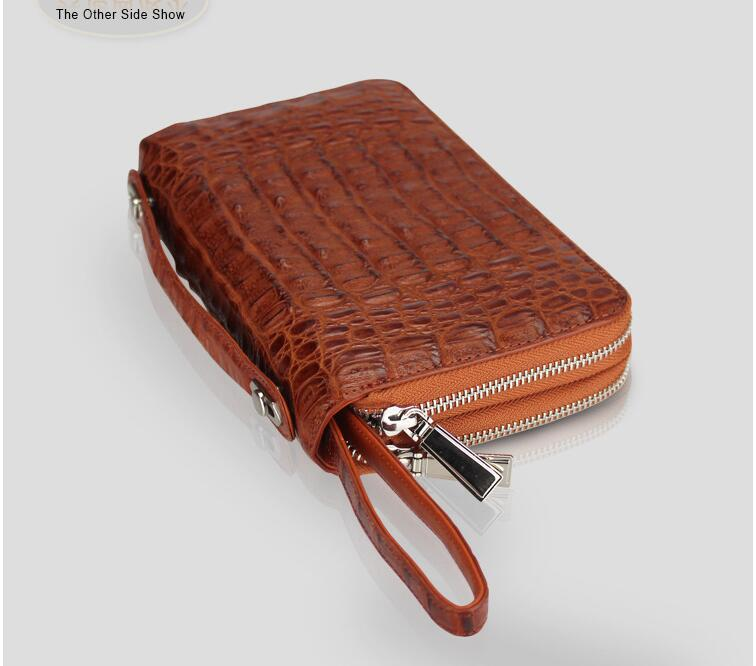 100% genuine alligator skin leather wallets + crocodile leather skin men wallets and purse + Free shipping men wallets 100