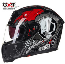 GXT Motorcycle Helmet Casco Moto Double Viso Moto Helmets Full Face Riding Motocross Helmet Capacete Motociclista For Men malushun full face motorcycle helmet dragon printing full face riding helmet moto helmets capacete de moto m l xl xxl