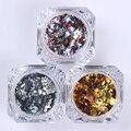 1 Box Colorful Christmas Series Shiny Nail Sequins Glitter Tips Manicure DIY Nail Art Decoration