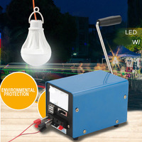 Outdoor 20W Multifunction Portable Manual Hand Crank Emergency Survival Power For Camping Hiking Phone Light Charger