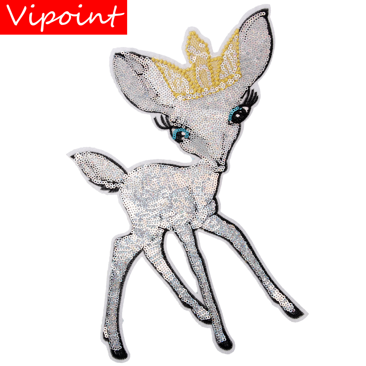 embroidery sequins dear patches for jackets,dear badges jeans,appliques coats A214