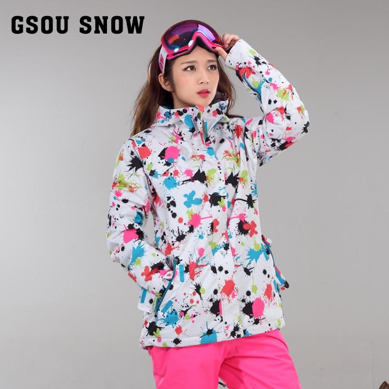 GSOU SNOW Women's ski jacket Skiing warm wind proof сварочный инвертор foxweld tig 185 dc