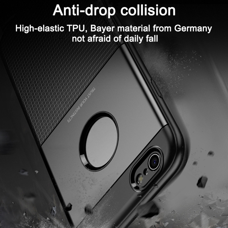 1Pcs Luxury Mobile Phone Cases for iPhone 6 6Plus Silicon Drop Protection Gel Soft Shell in Half wrapped Cases from Cellphones Telecommunications