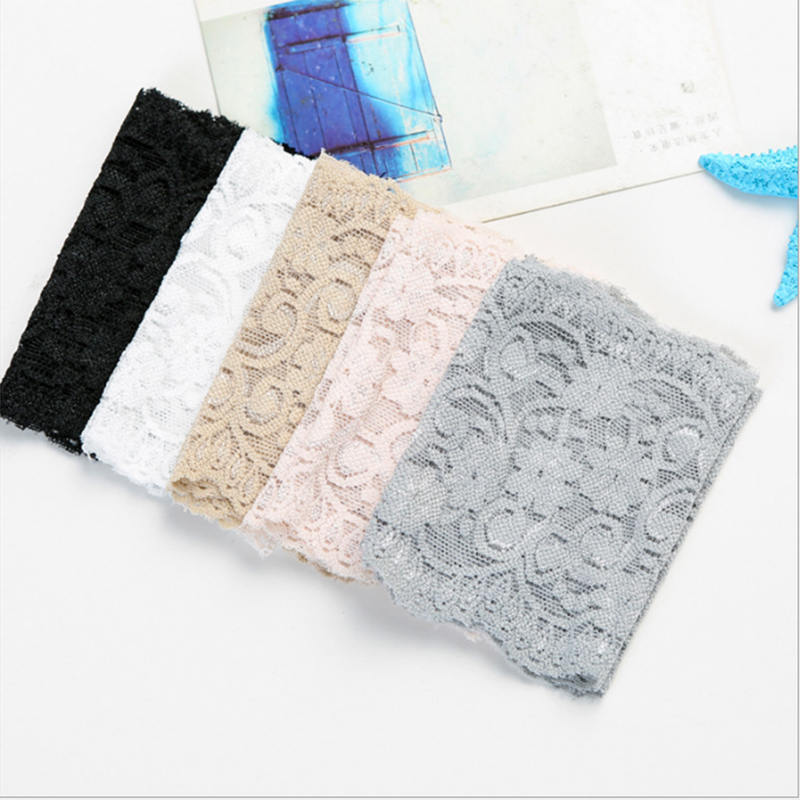 ZEBERY 2PCS 8CM Lace Wrist Cover Breathable Bracers Anti-UV Lace Pattern Woman Wrist Cover Clothing Accessories