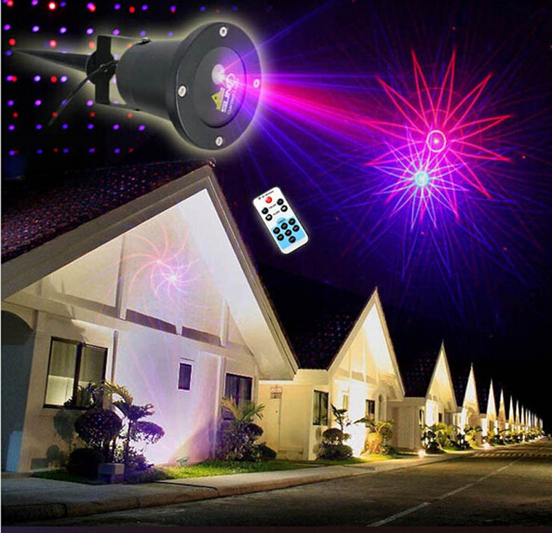 waterproof elf christmas lights 8in1 red blue moving twinkle outdoor christmas laser lights projector decorations - Laser Projector Christmas Lights