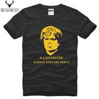 Tshirt Homme Men Luxury Brand Clothing American Drama Game Of Thrones Head Portrait A Lannister Always