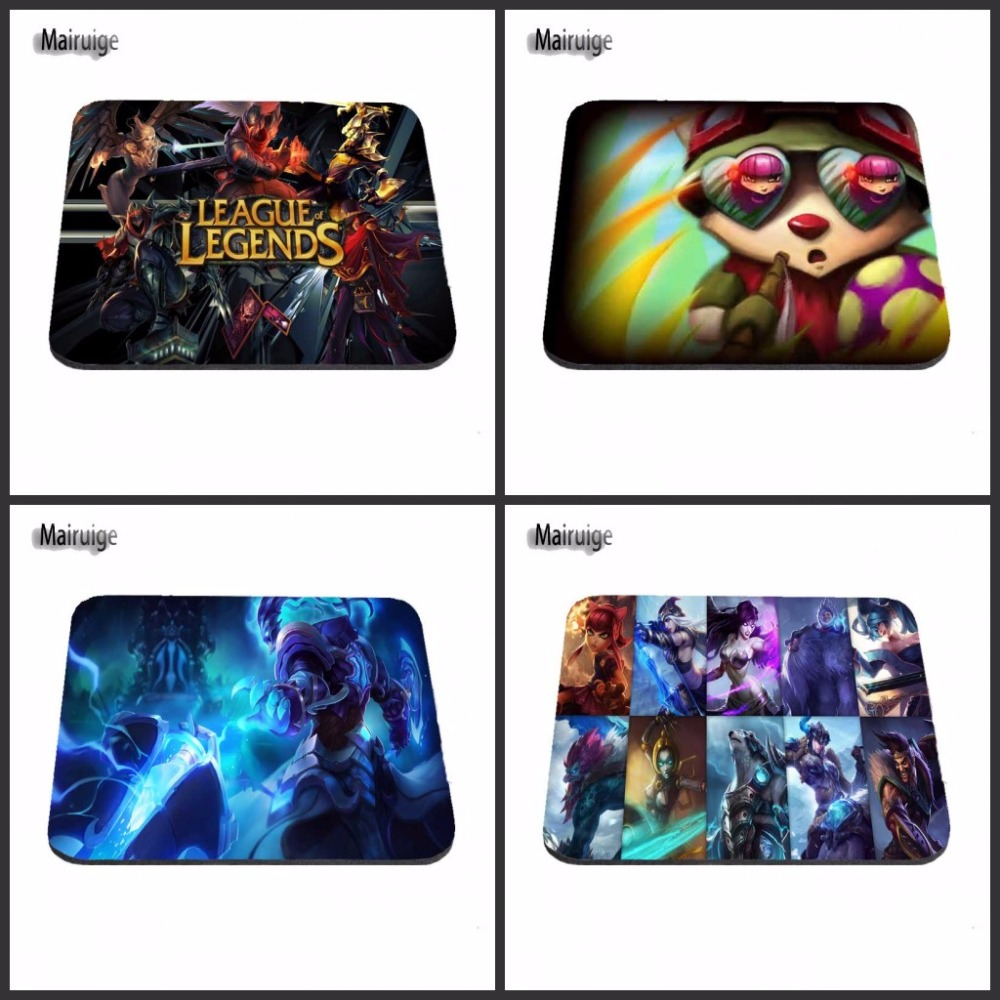 Mairuige League of Legends Junglers Computer Mouse Pad Mousepads Decorate Your Desk Non-Skid Rubber Pad image
