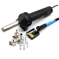 220V 420W Adjustable Electronic Heat Hot Air Gun 8032 Desoldering Soldering Station+Electric Soldering Iron