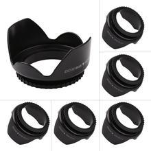 Professional Camera Lens Hood 52mm 55mm 58mm 62mm 67mm Flower Shape Screw Mount Lens Hood for Nikon Cannon Sony Camera