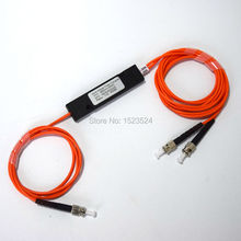 Envío Libre 850nm 62.5/125 MM 50/50 Relación de Acoplamiento ST/PC 1×2 FBT Acoplador 1*2 FBT Divisor De Fibra Óptica Multimodo
