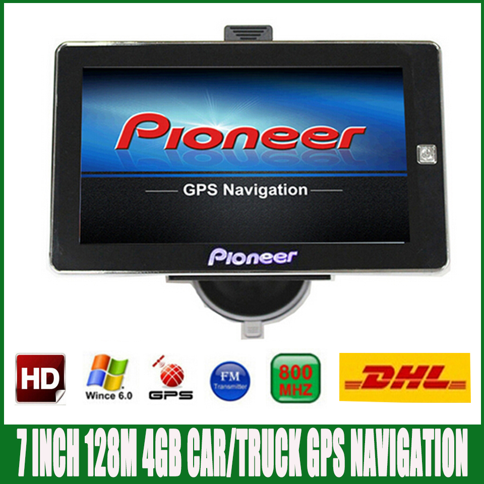 Free DHL shipping 7 inch HD Car truck font b GPS b font Navigation FM 4GB