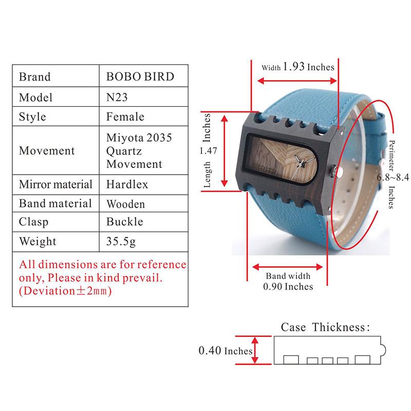 BOBO BIRD New Designer Wooden Watches Women with PU Leather Strap Quartz Watch (69)