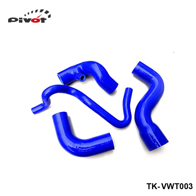Silicone Intercooler Induction Intake Turbo Boost Hose Kit For VW Passat 1.8T B5 96-01 (4pcs) TK-VWT003 gplus silicone intercooler turbo pipe hose kit for audi a4 vw passat b5 1 8t 94 05