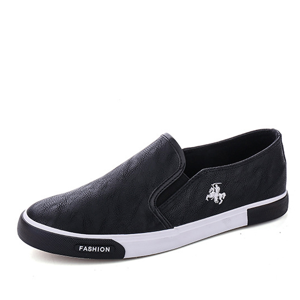Image 2 - NPEZKGC New arrival Low price Mens Breathable High Quality Casual Shoes PU Leather Casual Shoes Slip On men Fashion Flats Loafer-in Men's Casual Shoes from Shoes
