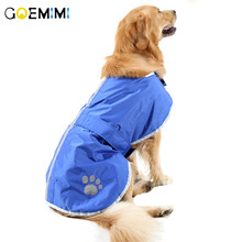 2018 New Waterproof Reversible Dog Warm Jacket Paw Design Solid Large dog Coat Clothes For Small Medium Big Dogs