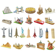 Permainan puzzle 3d Model Dimensi Kertas Diy Dirakit Otak Game Teaser Mainan Pendidikan untuk Anak Dewasa Jigsaw Mainan Anak-anak