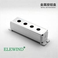 ELEWIND Metal Aluminium Push Button Switch Box 4 Hole With 22mm Hole BXM B4 22