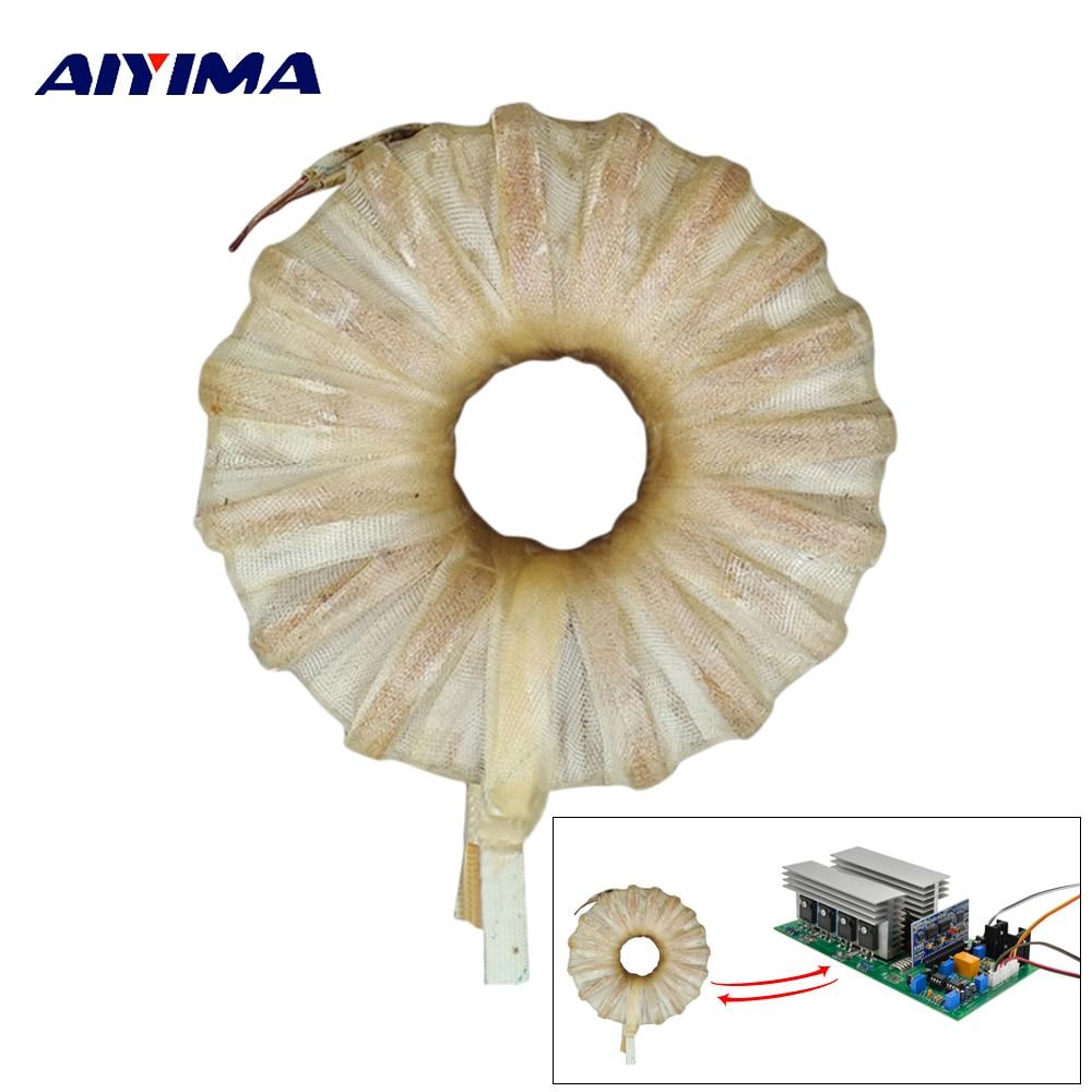 Aiyima 1pc Power Frequency Pure Sine Wave Inverter Toroidal Transformer DC 24V 36V 48V 1000 3000