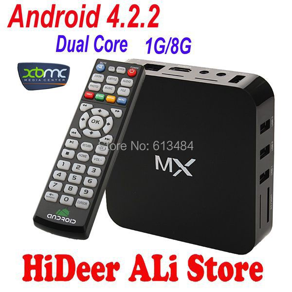 XBMC preinstalled Android 4.2.2 TV set top box Google Amlogic 8726-MX Cortex A9 Dual core 1.5GHz 1GB/ 8GB M6 EM6 Media Player