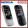 Оригинал разблокировать NOKIA 6303i mobile телефон черный и серебристый цвет для вас выбирают русской или арабский keyborad бесплатная доставка
