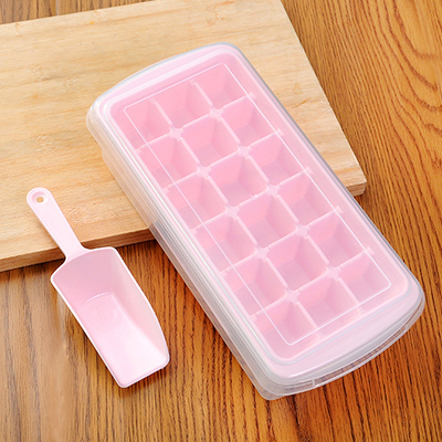 2016 NEW Hot Fashion Ice Make Mold Ice Storage Box and Ice Scoop Food Safe PP Ice Cube Tray Cold Drinks DIY