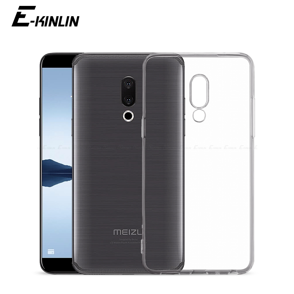 Clear Silicone Cover For <font><b>Meizu</b></font> M8 <font><b>M6T</b></font> M6s M6 M5c M5s Note 9 X8 Pro 8 7 6 17 16T 15 Lite 16th Plus 16S 16Xs 16 X <font><b>TPU</b></font> Phone <font><b>Case</b></font> image