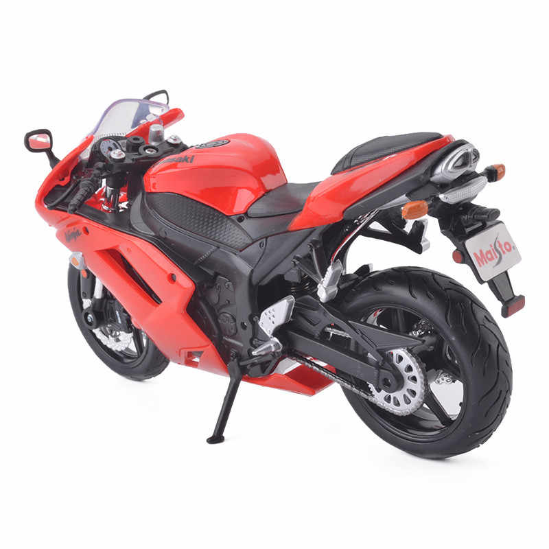 Maisto Ninja ZX-6R 1:12 Model Sepeda Motor Mainan Sepeda Motor Mobil Mainan untuk Anak-anak Anak Laki-laki