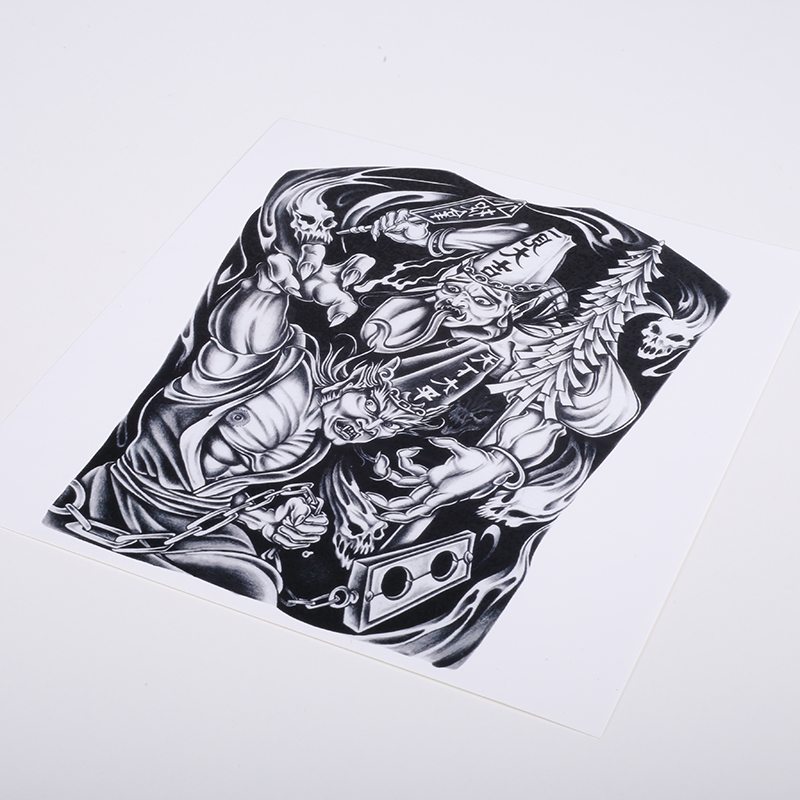 Gothic Waterproof Tattoo Stickers Cold And Sweat resistant Durable Cool Zombie Demon Hot Flower Arm Tattoo Tattoo Stickers in Temporary Tattoos from Beauty Health