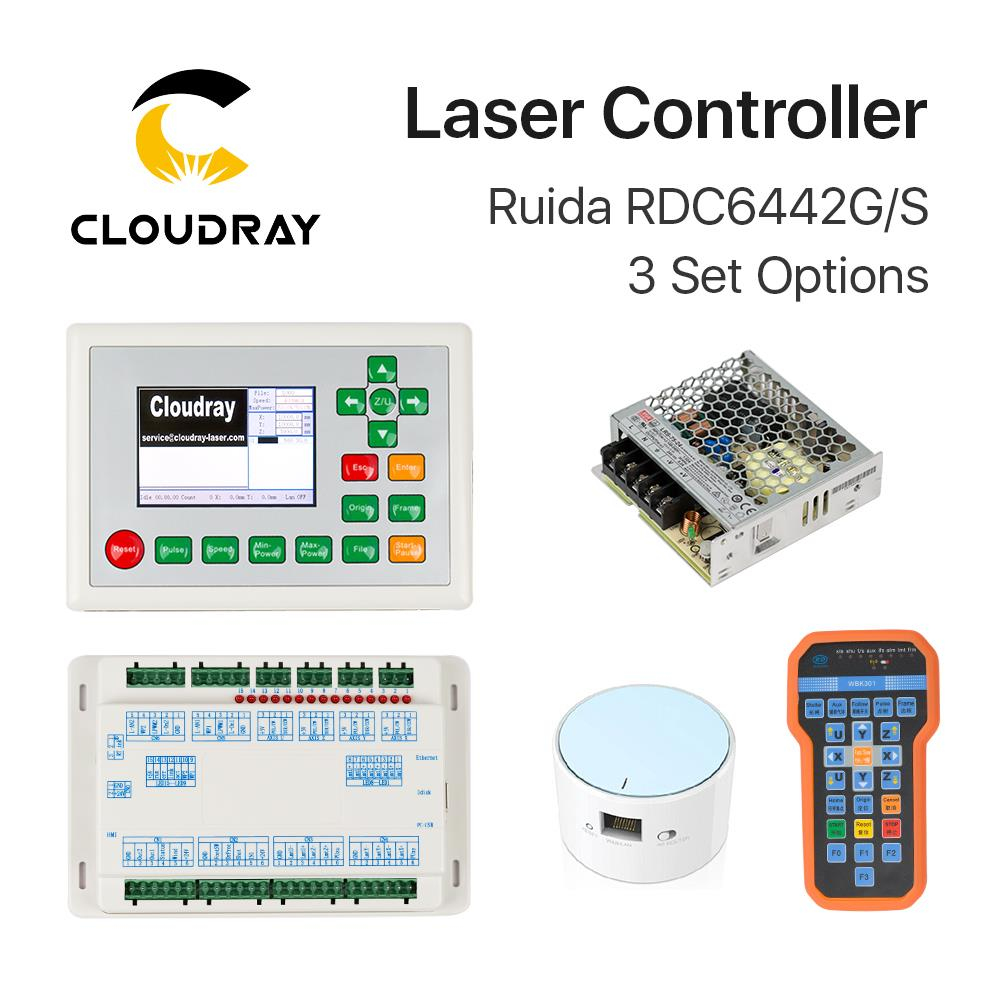 все цены на Cloudray Ruida RDC6442G DSP Controller + PSU / WIFI / Handle for Co2 Laser Engraving Cutting Machine онлайн