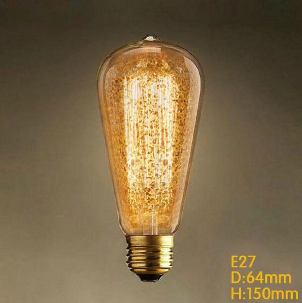 220v 240v vintage edison bulb dirty dot glass light bulbs 40w e27 bulbs indoor - Vintage Light Bulbs