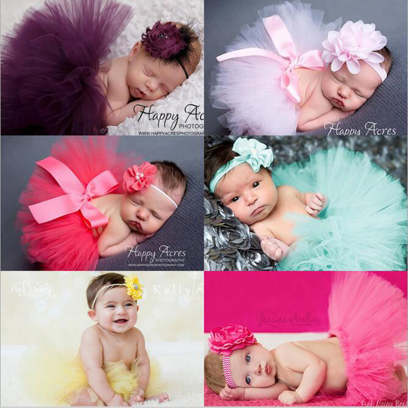 1 Set Baby Infant Toddler Princess Girl Hair Accessories Headwear Headband Newborn Crib Lace Tutu Party Tulle Skirt Ball Gown