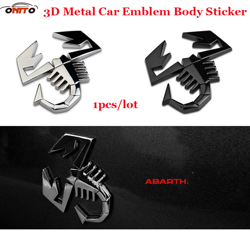 New model 1pcs Universal decoration ScorpionAbarth Car styling Auto emblem badge Body Stickers All series motorcycle Decals