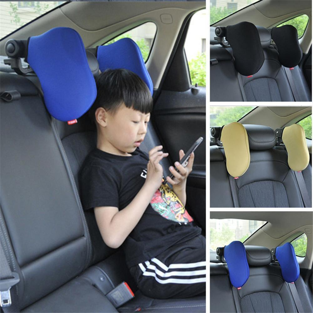 Adjustable Car Seat Headrest Travel Rest Neck Pillow Auto Head Support Nap Sleep Both Side Cushion for Kids Children Adults