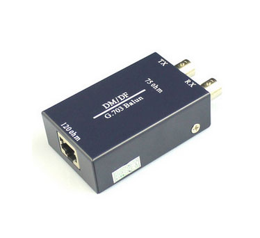 G.703 Balum 75ohm BNC to 120ohm RJ45 Ethernet Adapter efficient and fast applied